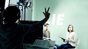 TV Direktor am Set