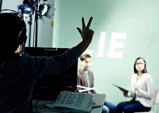 Direttore TV sul set