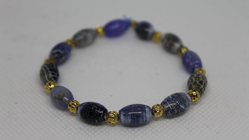 Bracelet agathe feu bleue