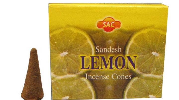 Citron Cones incense Sac