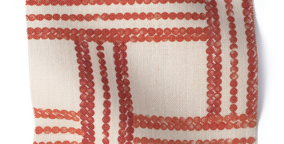 TRELLIS RED - LINEN
