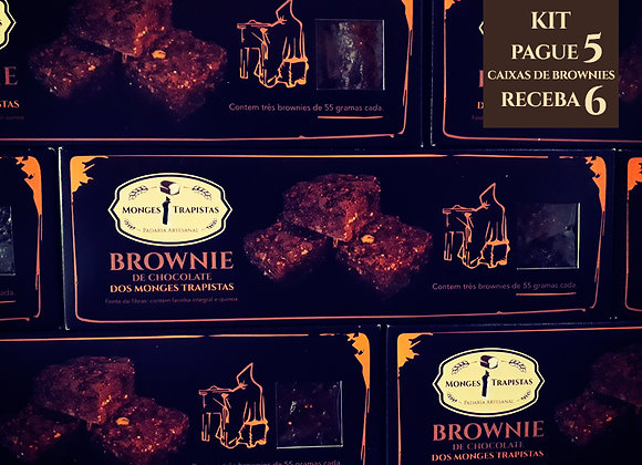Kit: 6 caixas com 3 Brownies de Chocolate cada