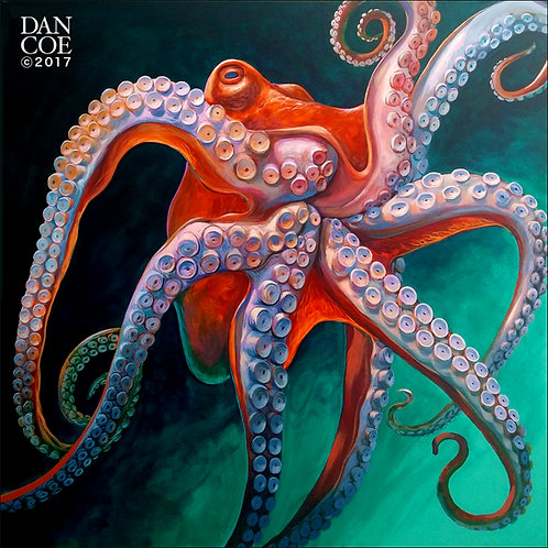 Octopus 4in X 4in Vinyl Sticker