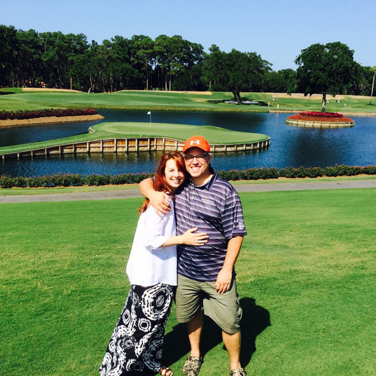 G and me Sawgrass 17th hole June 2015.JP