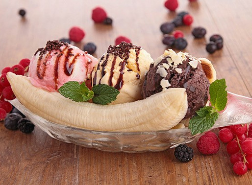 Making a Healthy Banana Split: