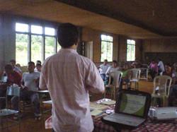 lecture at demo farm of salcedo