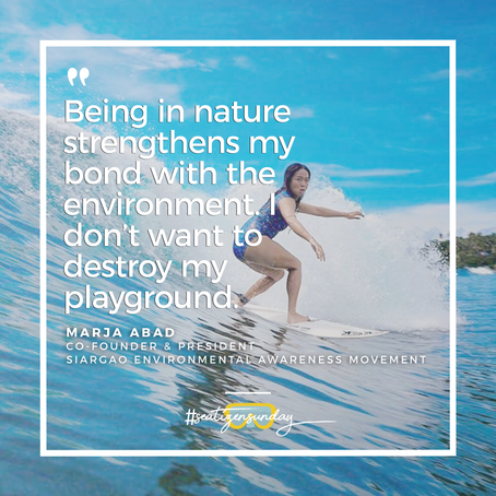 #SeatizenSunday: Marja Abad, Siargao Environmental Awareness Movement