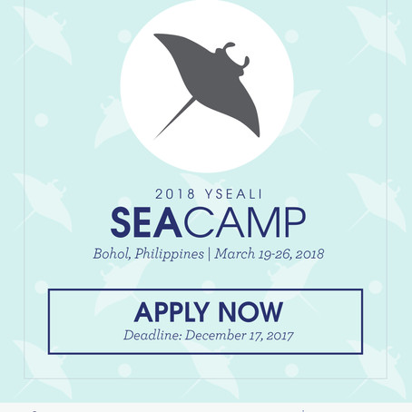 Applications for the 2018 YSEALI SEA Camp-Bohol for Southeast Asian youth now open!