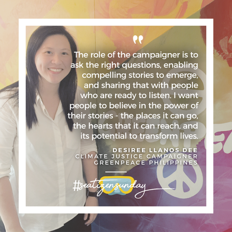 #SeatizenSunday: Desiree Llanos Dee, Greenpeace Philippines