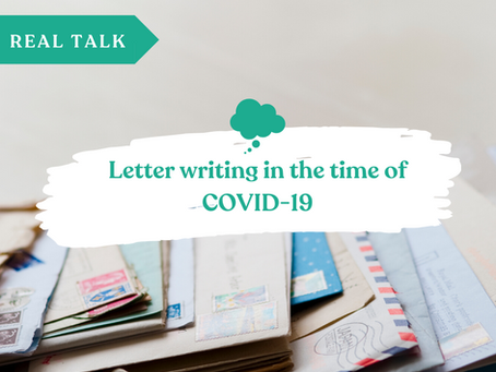 Writing letters in the time of COVID-19