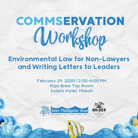 SPS and Nipa Brew host Commservation Workshop