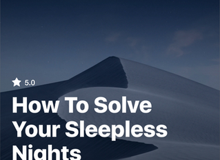 How To Solve Your Sleepless Nights