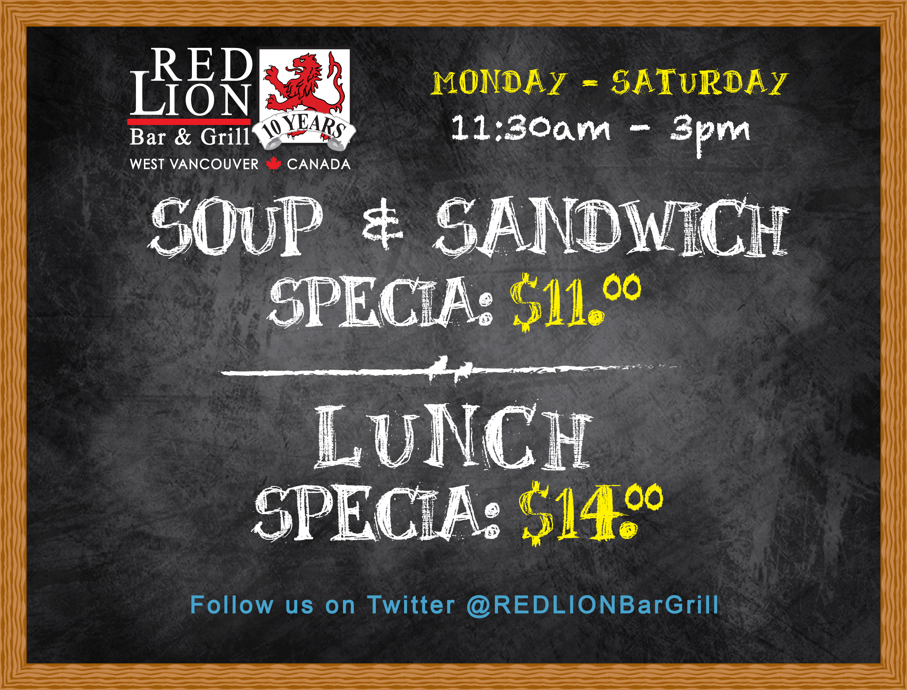 Lunch Specials