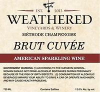 Bottle of wine - Brut Cuvee