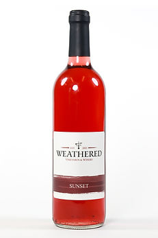 Bottle of wine - Sunset