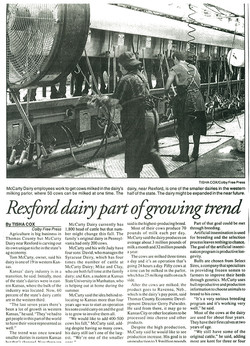 Rexford Dairy Part of Growing Trend Arti