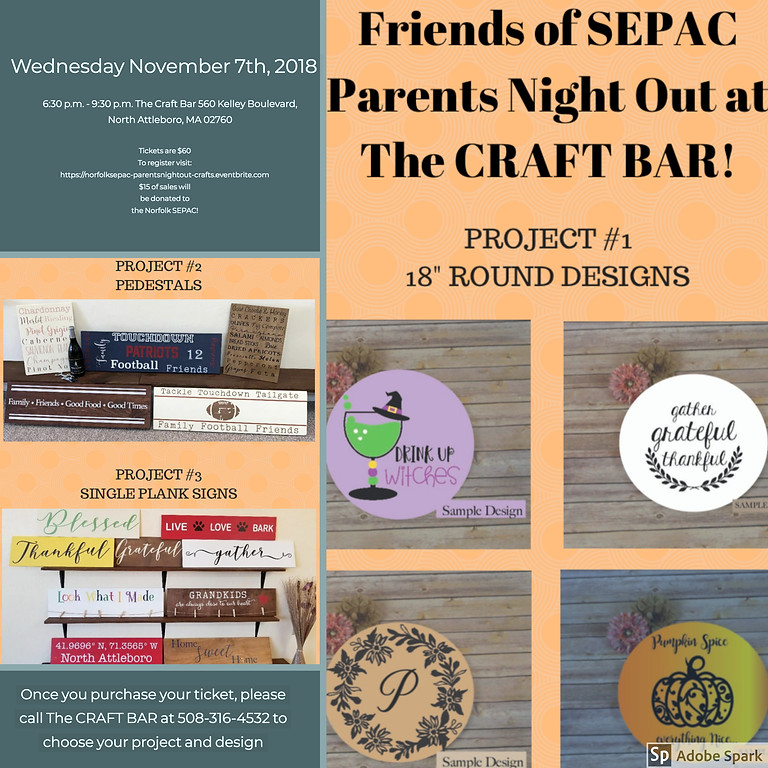 Friends of SEPAC Parents Night Out at Craft Bar!