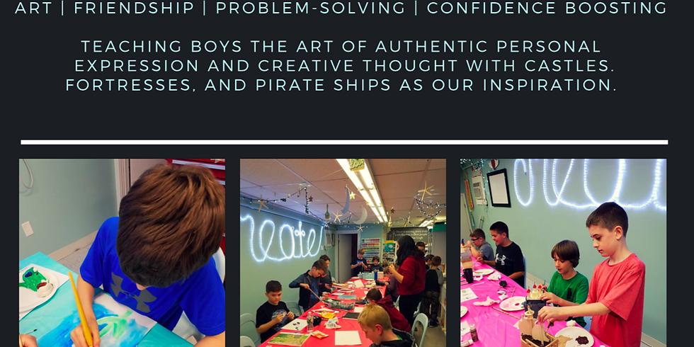 Self Esteem Through Art Workshop for 5th and 6th Grade Boys - A Workshop by Jennifer Pipe