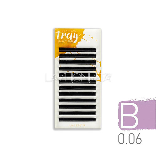 B Δισκία 0.06mm - Μαύρο -12 σειρές - για eyelash extensions | Lashionista