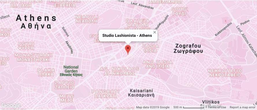 Studio Lashionista Αθήνα χάρτης beauty s