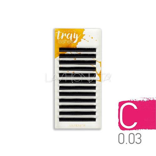 C 0.03mm Δισκία - Μαύρο (12 σειρές)