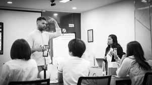 Scalp Micropigmentation Course with Piotr Fliger in Vietnam. Black and white.