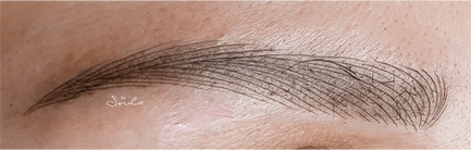 Hybroblading Ημιμόνιμο τατουάζ φρυδιών από την Dermacraft