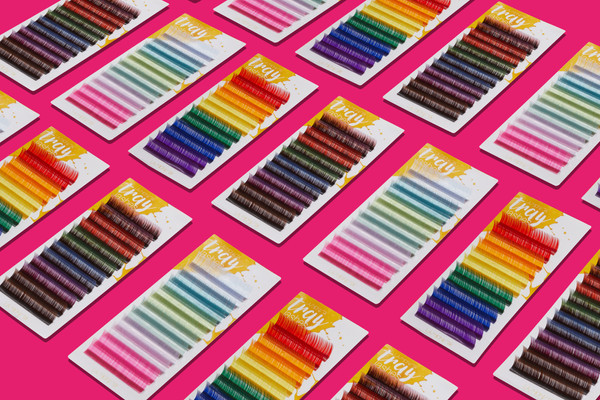 Χρωματιστές βλεφαρίδεςγια εξτενσιον βλεφαρίδων