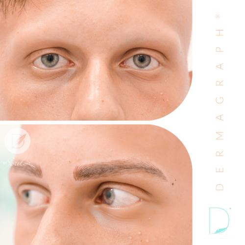 Microblading eyebrow tattoo (Male)