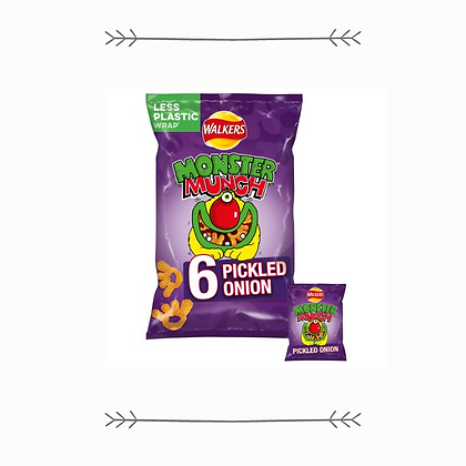 Walkers Monster Munch Pickled Onion - Multipack of 6