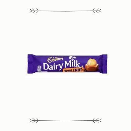 Cadbury Dairy Milk Whole Nut Bar