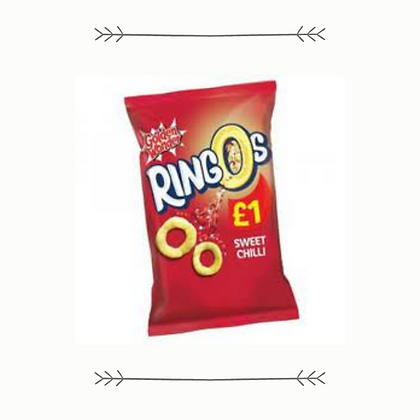 Golden Wonder Ringos - Sweet Chilli - Grab Bag