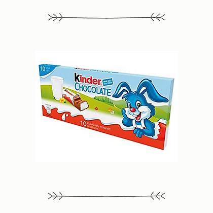 Kinder Chocolate Bars - 10 Pack