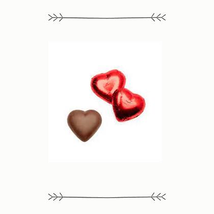 """I Love You"" Milk Chocolate Hearts in Net"