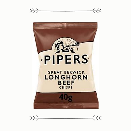 Pipers Great Berwick Longhorn Beef Crisps