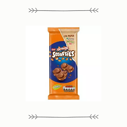 Smarties Orange Milk Chocolate Sharing Block