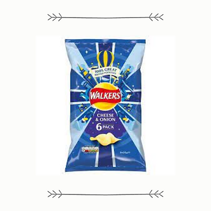 Walkers Cheese and Onion 6 Pack
