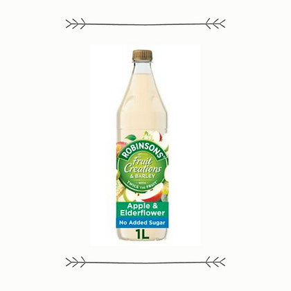 Robinsons Fruit Creations Barley - Crisp Apple and Elderflower