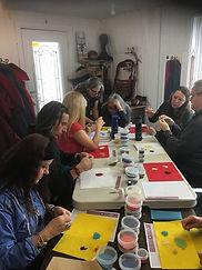Atelier de perlage chez Kina8at par Kokom Jocelyne Laroche