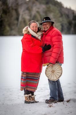 Chomis et Marie-Josée fondateurs de Kina8at en hiver