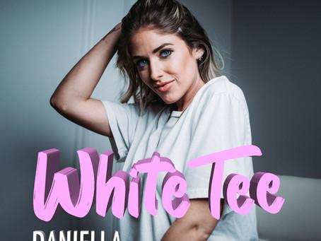 Pop Country + EDM = White Tee by Daniella