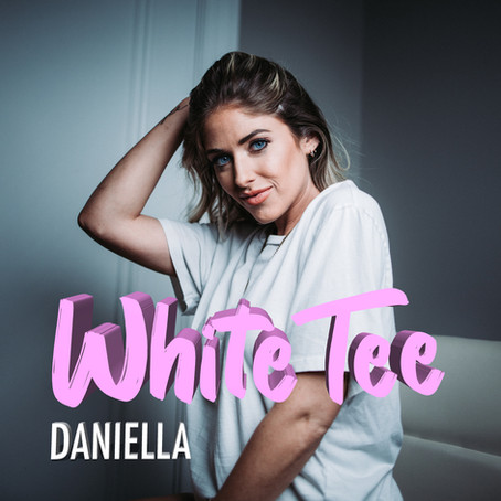 Pop Country + EDM = White Tee by Daniella