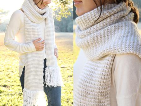 Cascade Super Scarf - FREE Tunisian Crochet Pattern