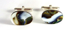 Green cufflinks SOLD