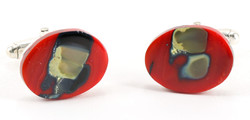 Red cufflinks P80  SOLD