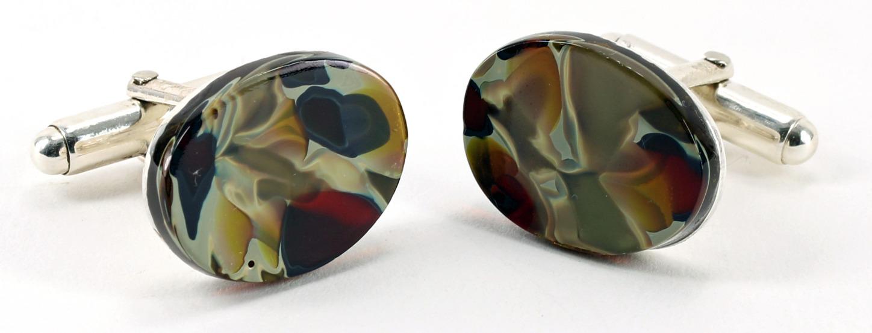 Amber cufflinks P109 SOLD
