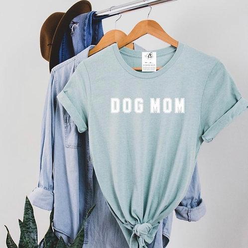 """""""Dog Mom"""" Varsity Boyfriend Tee"""
