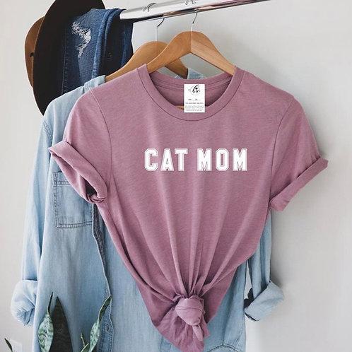 """Cat Mom"" Varsity Boyfriend Tee"