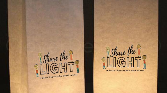 Spread The Light - 2 sets of custom designed luminary bags
