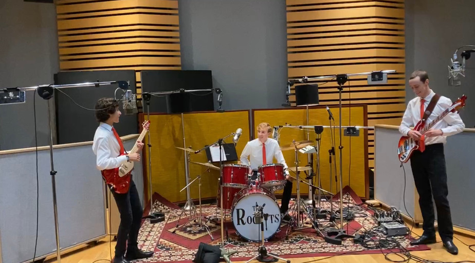 The Rockyts in the Studio